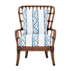 Island-Inspired Exposed Rattan Winged Sunset Cove Chair