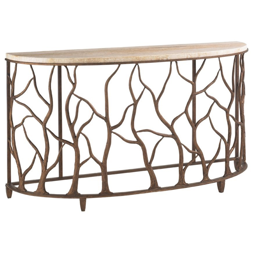 Cypress Point Bannister Garden Console Table by Tommy Bahama Home at Baer's Furniture