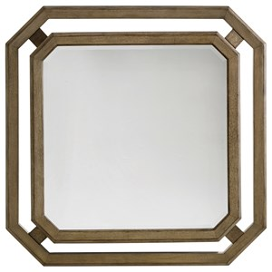 Callan Square Mirror with Wood and Metal Frame