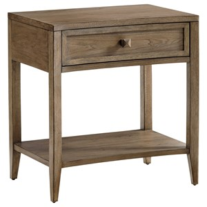 Stevenson Open Nightstand with One Drawer and Display Shelf