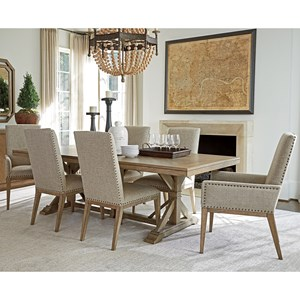 Seven Piece Dining Set with Pierpoint Table and Deveraux Chairs