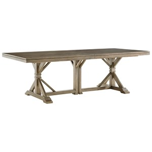 Pierpoint Double Pedestal Table with Two Extension Leaves