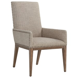 Devereaux Upholstered Arm Chair in Berwick Tan Fabric