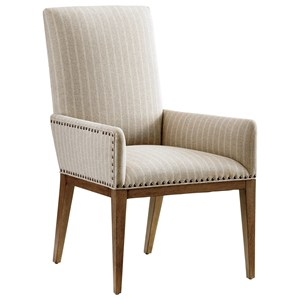 Devereaux Upholstered Arm Chair in Custom Fabrics or Leathers