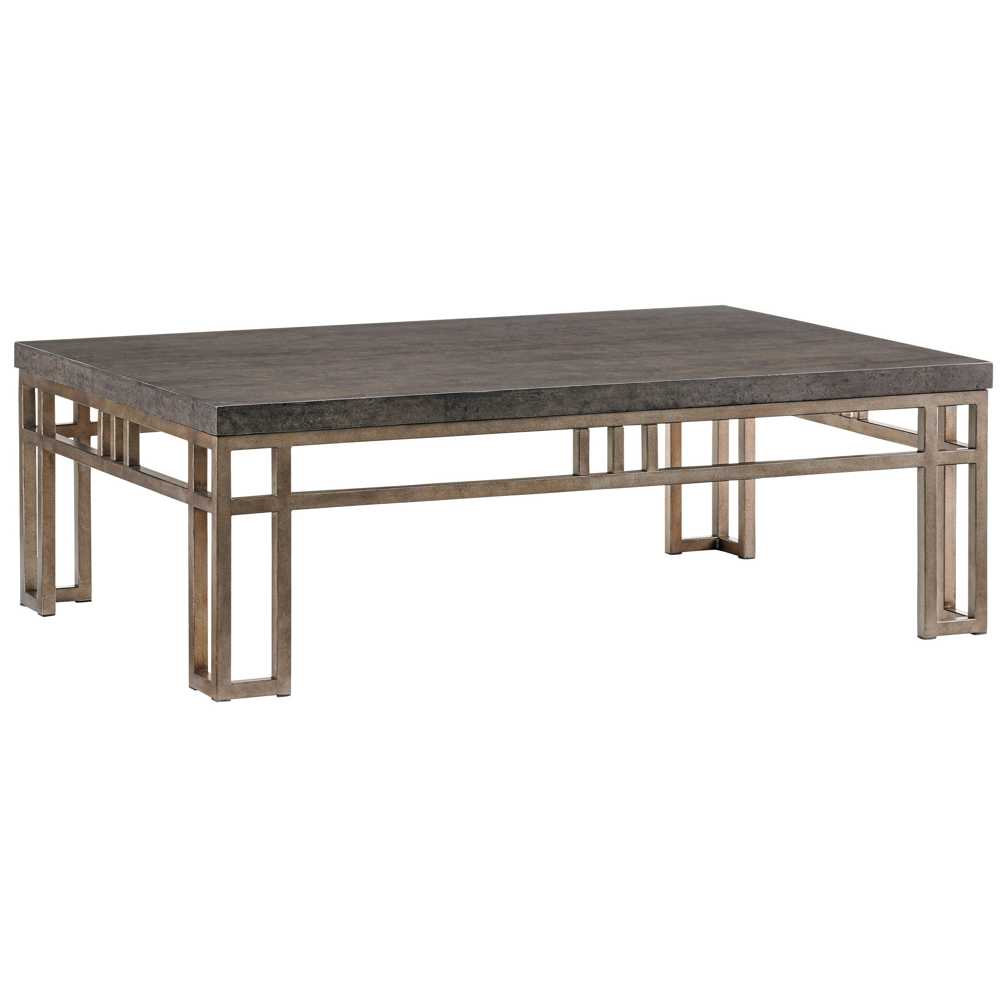 Cypress Point Montera Travertine Cocktail Table by Tommy Bahama Home at Wayside Furniture