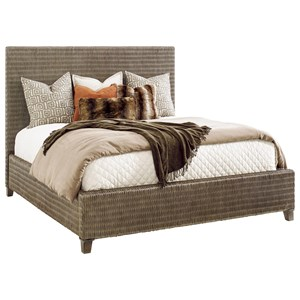 Driftwood Isle Woven Wicker Platform Bed Queen Size