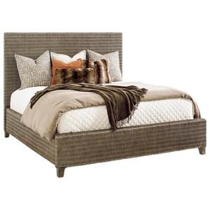 Driftwood Isle Woven Wicker Platform Bed King Size