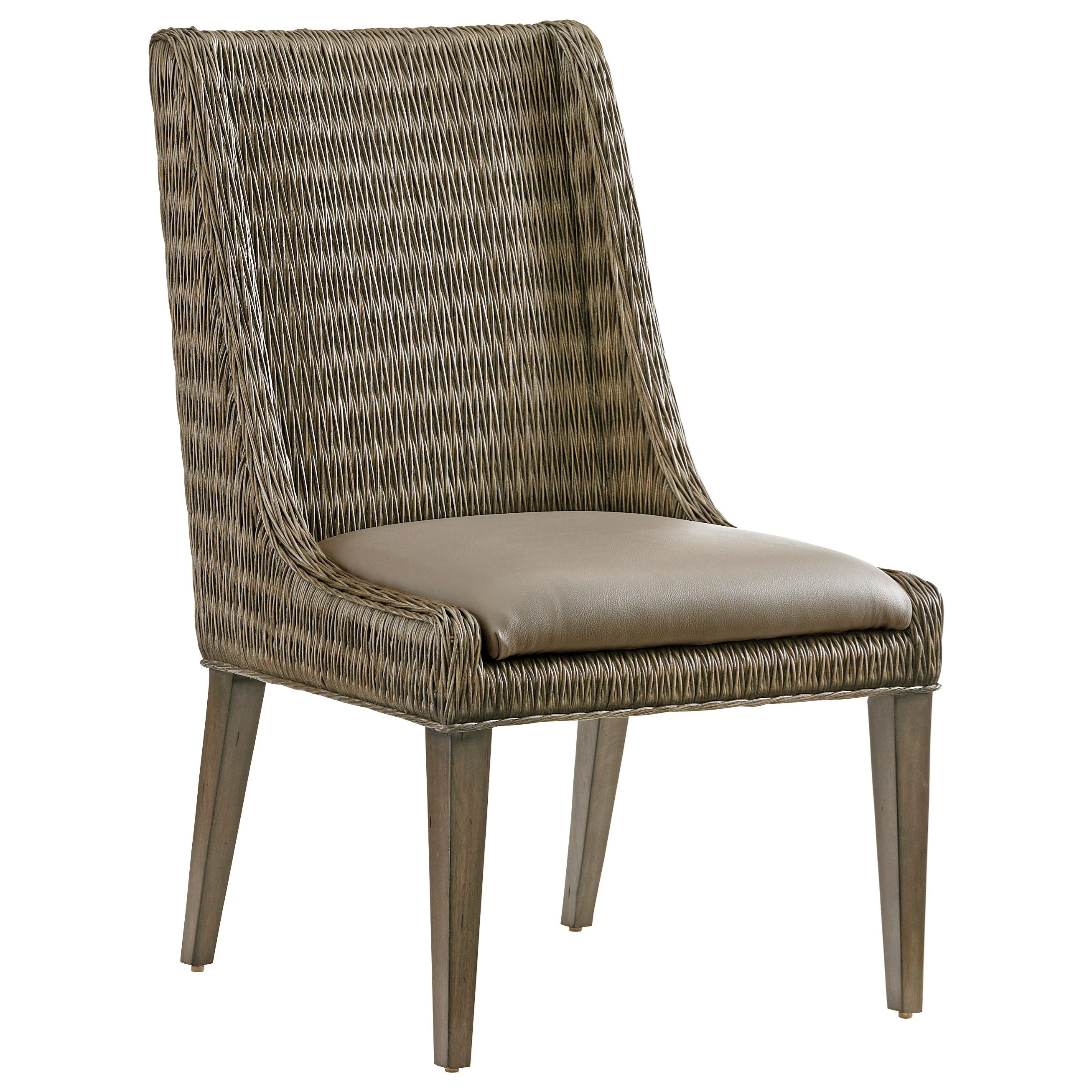 Cypress Point Brandon Woven Side Chair by Tommy Bahama Home at Baer's Furniture