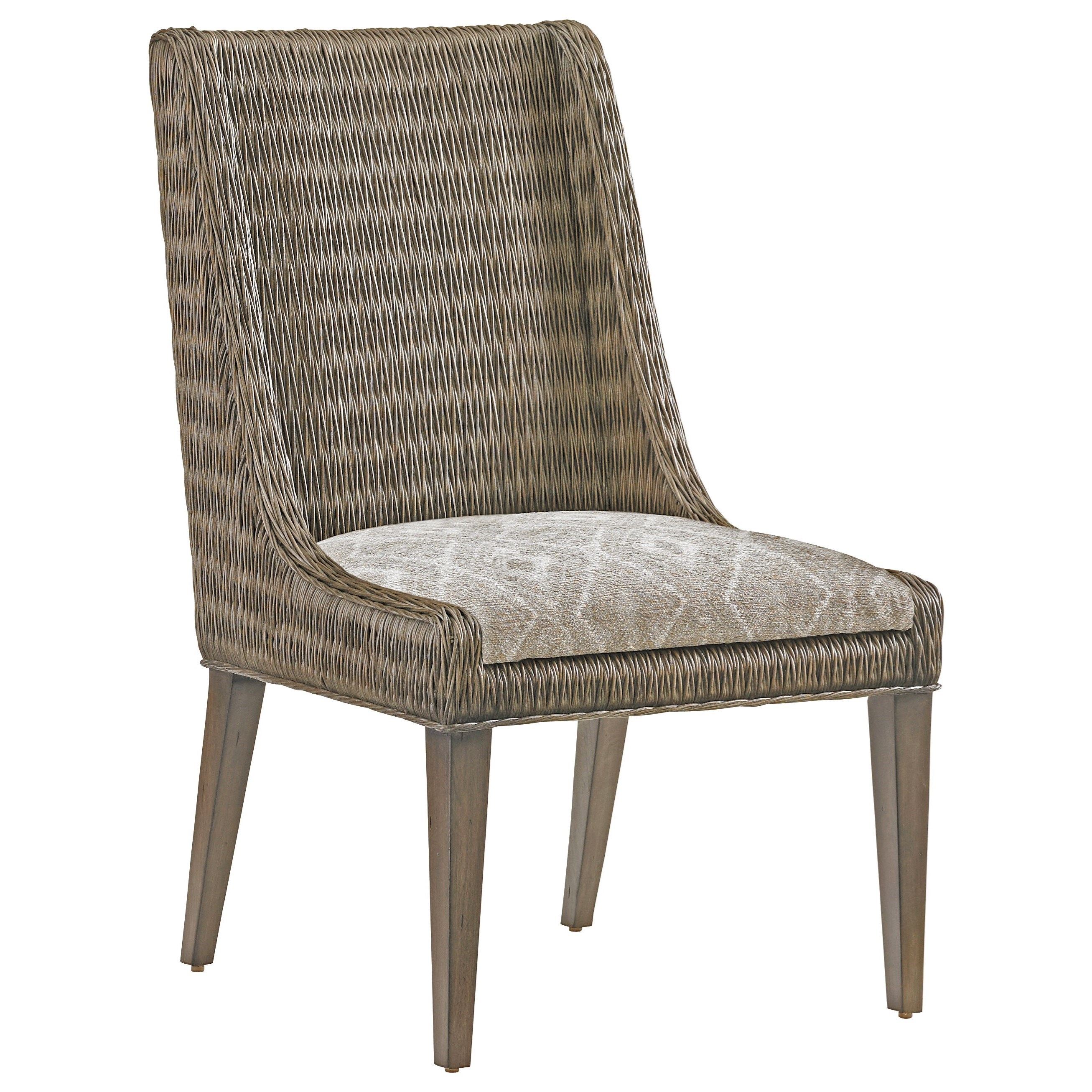 Cypress Point Brandon Woven Side Chair Custom by Tommy Bahama Home at Baer's Furniture
