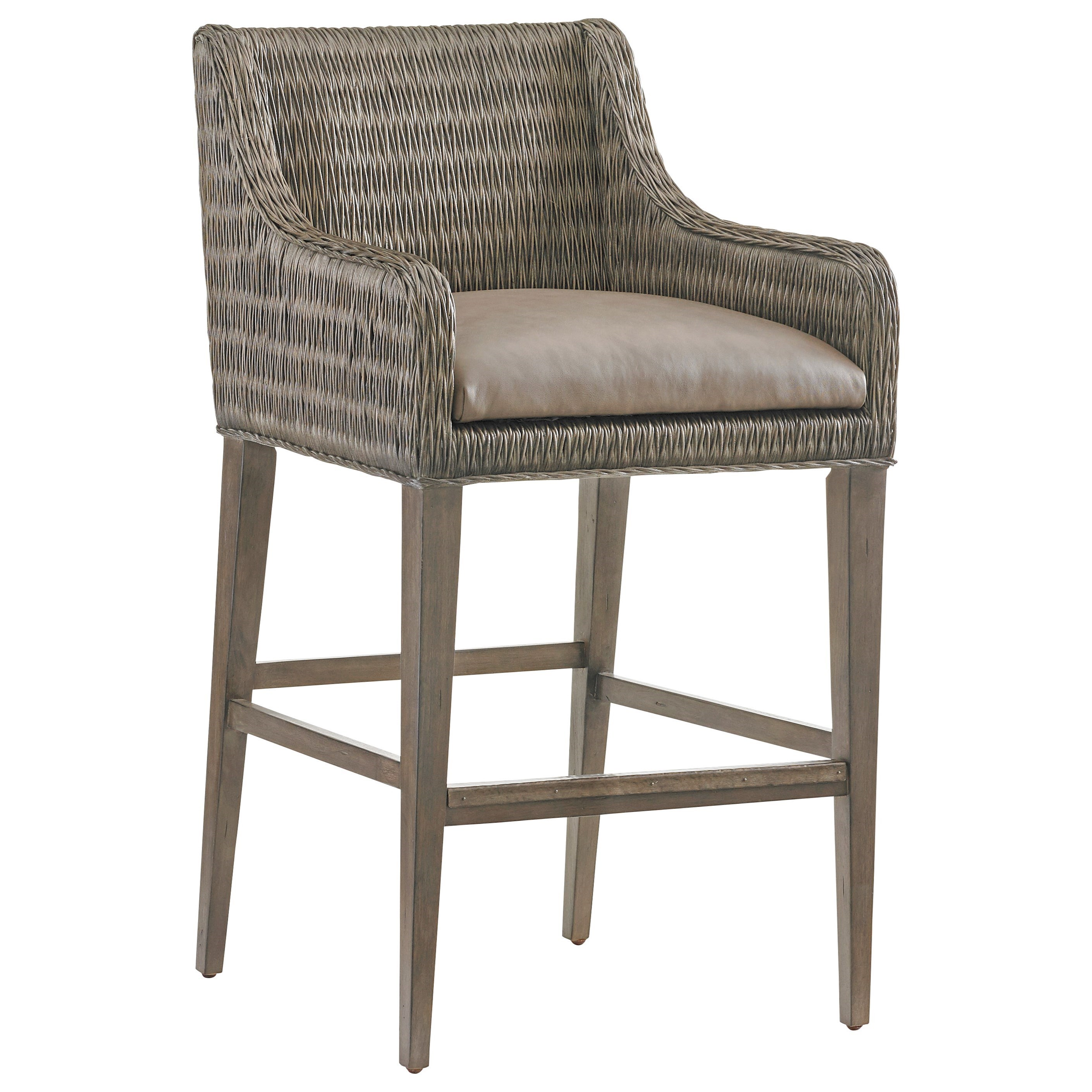 Cypress Point Turner Woven Bar Stool by Tommy Bahama Home at Baer's Furniture