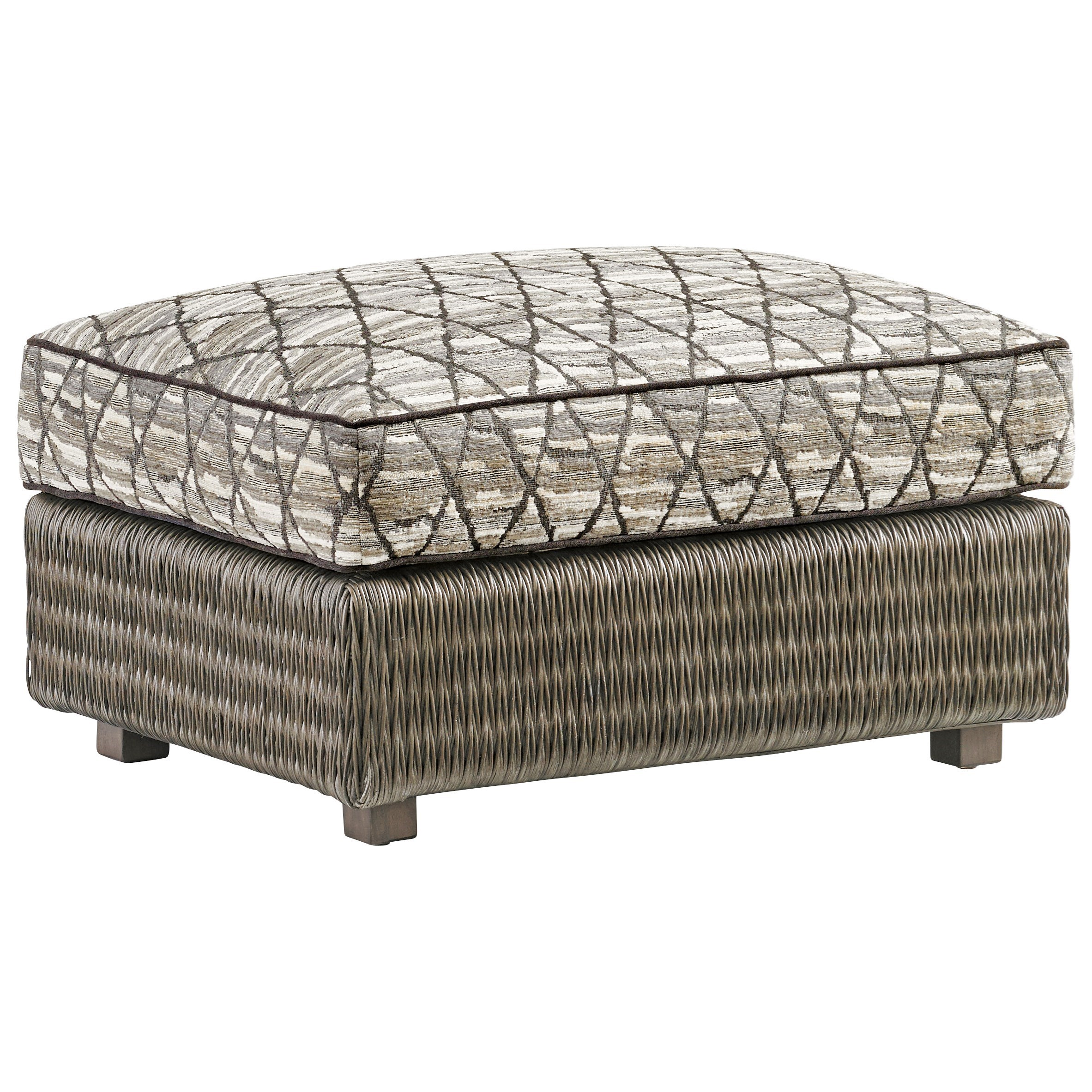 Cypress Point Hayes Ottoman by Tommy Bahama Home at Baer's Furniture