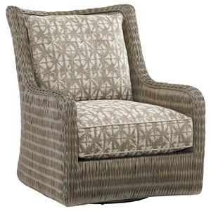 Estero Woven Rattan Swivel Chair
