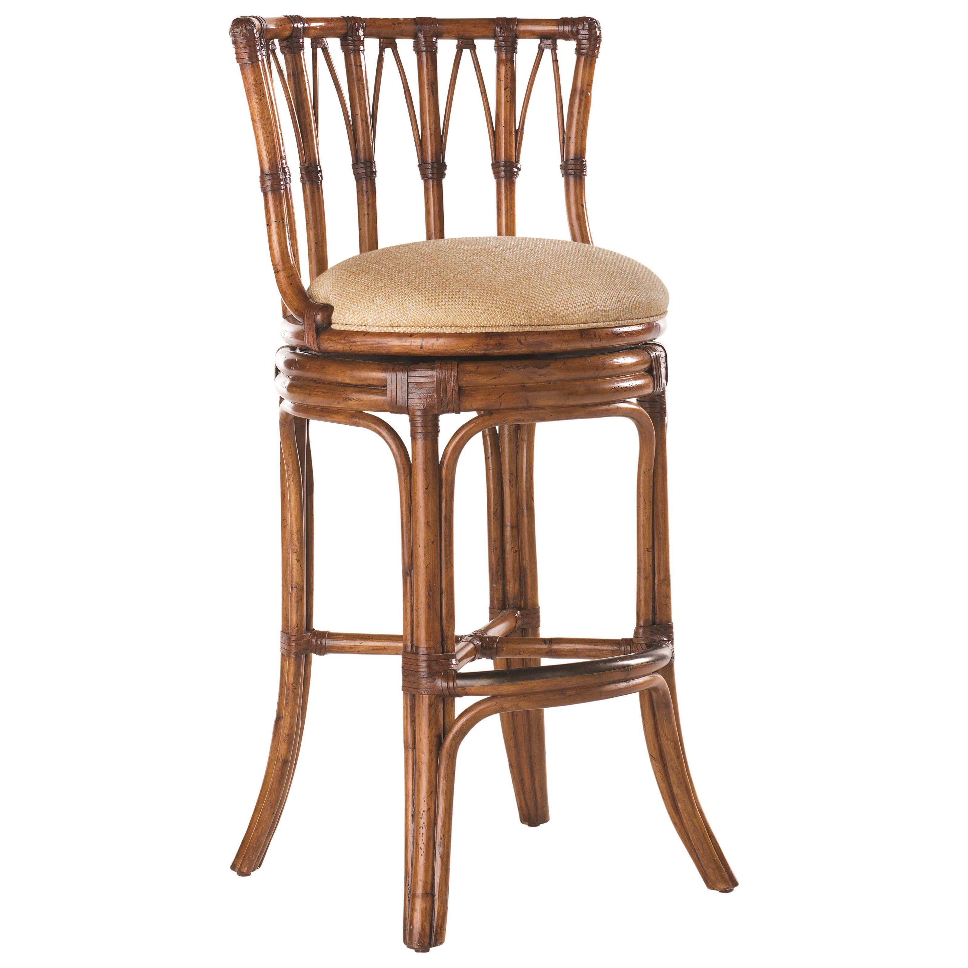 Island Estate Quickship South Beach Swivel Bar Stool by Tommy Bahama Home at Baer's Furniture