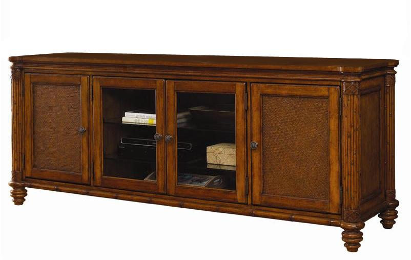 Island Estate Blake Island Entertainment Console by Tommy Bahama Home at Baer's Furniture