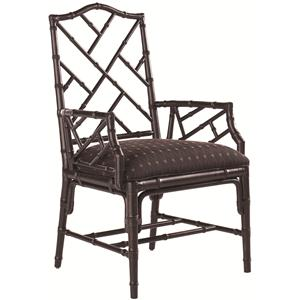 <b>Customizable</b> Ceylon Arm Chair with Rattan Frame