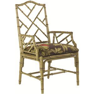 <b>Customizable</b> Ceylon Arm Chair with Rattan Frame