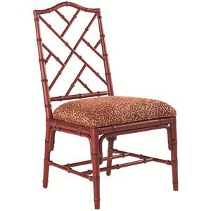 <b>Customizable</b> Ceylon Side Chair with Rattan Frame
