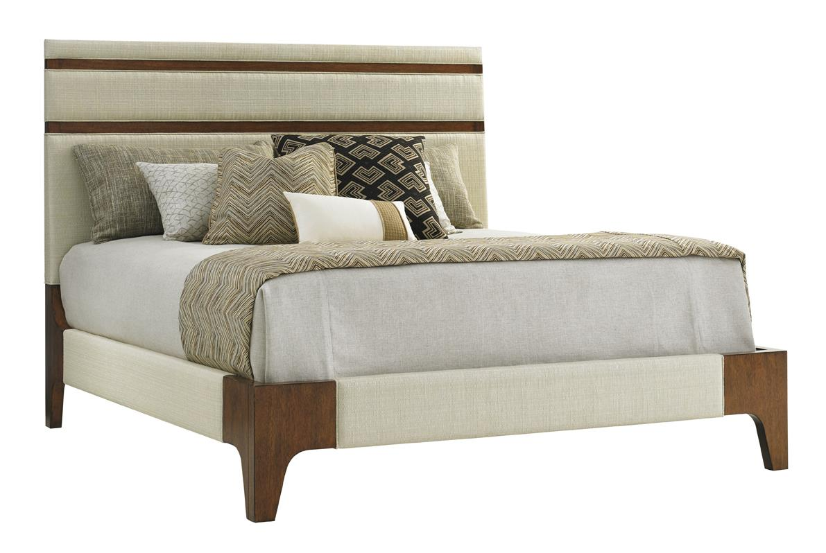 Island Fusion Mandarin Upholstered Panel Bed King by Tommy Bahama Home at Baer's Furniture