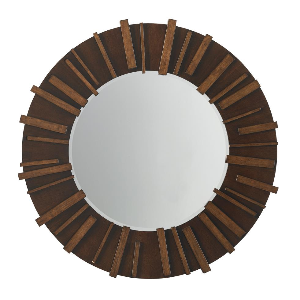 Island Fusion Kobe Round Mirror by Tommy Bahama Home at Baer's Furniture