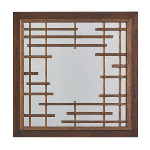 Mikasa Square Mirror with Asian Fretwork Design