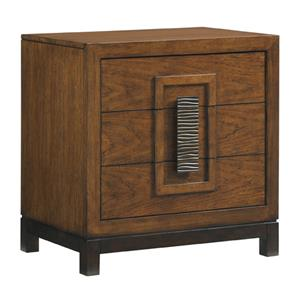 Isabela Asian-Inspired Nightstand with Three Drawers
