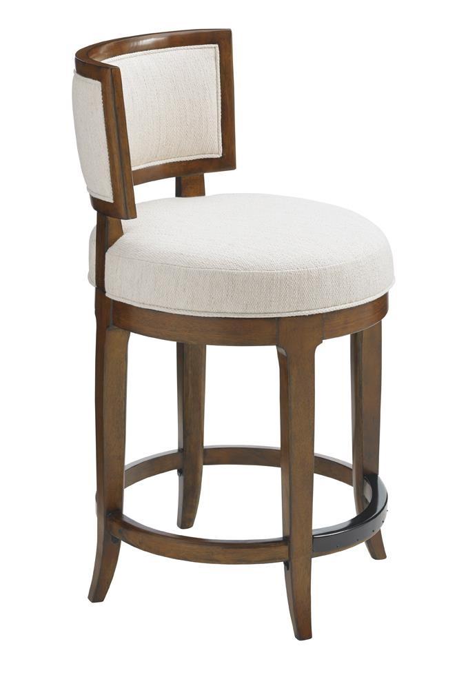 Island Fusion Macau Swivel Counter Stool by Tommy Bahama Home at Baer's Furniture