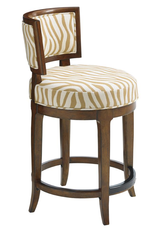 Island Fusion Macau Customizable Swivel Counter Stool  by Tommy Bahama Home at Baer's Furniture
