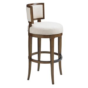 Macau Swivel Bar Stool in Ivory