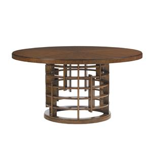 Meridien Round Dining Table with Wood Top