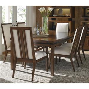 Seven Piece Dining Set with Natori Chairs