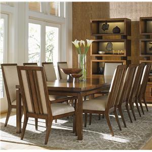 Eleven Piece Dining Set with Natori Chairs