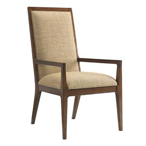 Tommy Bahama Home Island Fusion Natori Customizable Slat Back Arm Chair