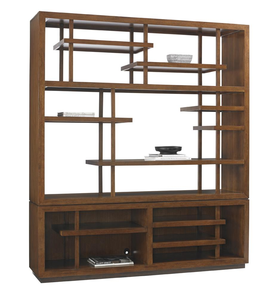 Island Fusion Taipei Media Bookcase by Tommy Bahama Home at Baer's Furniture