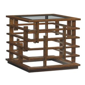 Nobu Asian-Inspired Square Lamp Table