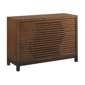 Madura Asian-Inspired Hall Chest with Wave Relief Pattern