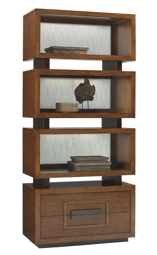 Island Fusion Tonga Tiered Bookcase by Tommy Bahama Home at Baer's Furniture