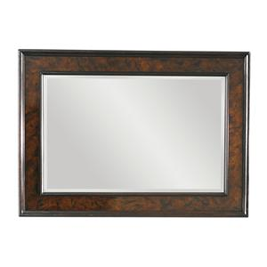 Somerton Landscape Mirror with Tortoise Shell Inlay