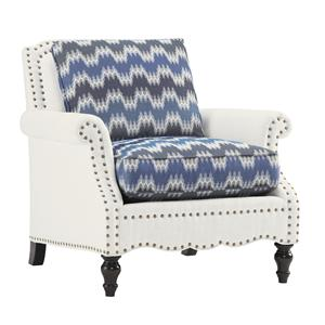 Traditional Belgrave Chair with Decorative Nailheads and Turned Wood Feet