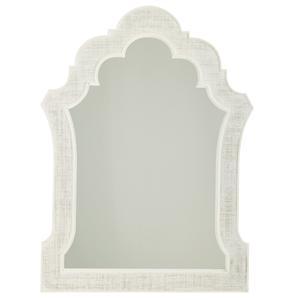 Sandys Mirror with Woven Raffia Frame