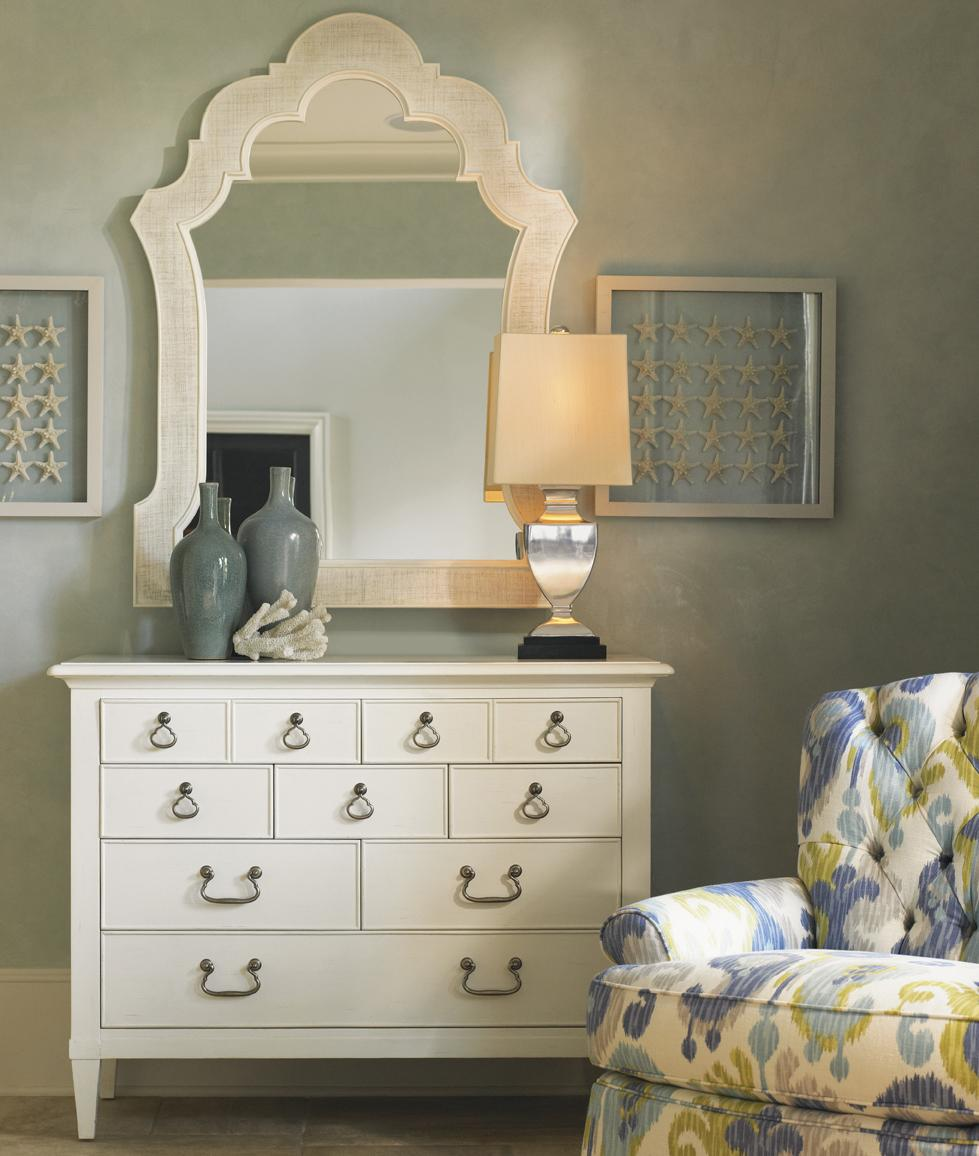 Ivory Key Elbow Beach Dresser & Sandys Mirror by Tommy Bahama Home at Baer's Furniture