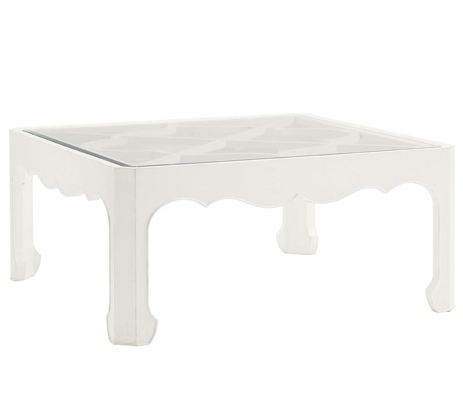 Ivory Key Cassava Cocktail Table with Glass Insert by Tommy Bahama Home at Baer's Furniture