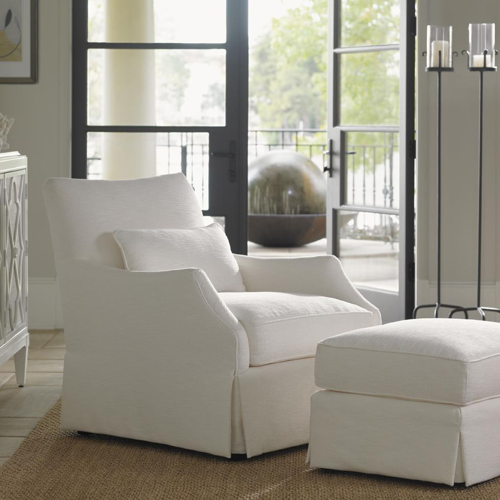 Ivory Key Crystal Cave Chair & Ottoman by Tommy Bahama Home at Baer's Furniture