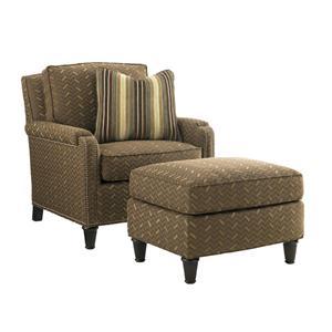Tommy Bahama Home Kilimanjaro Bishop Chair and Ottoman Set