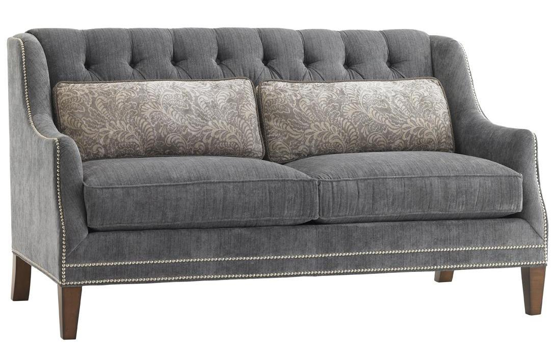 Tommy Bahama Upholstery Sloane Settee by Tommy Bahama Home at Baer's Furniture