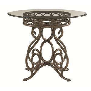 Capistrano Dining Table with 36 Inch Glass Top