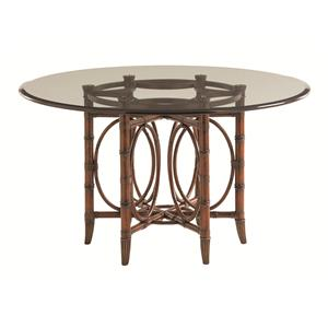 Coral Sea Rattan Dining Table with 60 Inch Glass Top