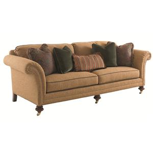 Southport Sofa with Turned Wood Legs and Casters
