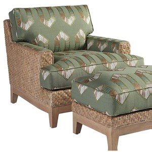 Danville Tropical Chair with Woven Banana Leaf Frame