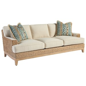Danville Tropical Sofa with Woven Banana Leaf Frame