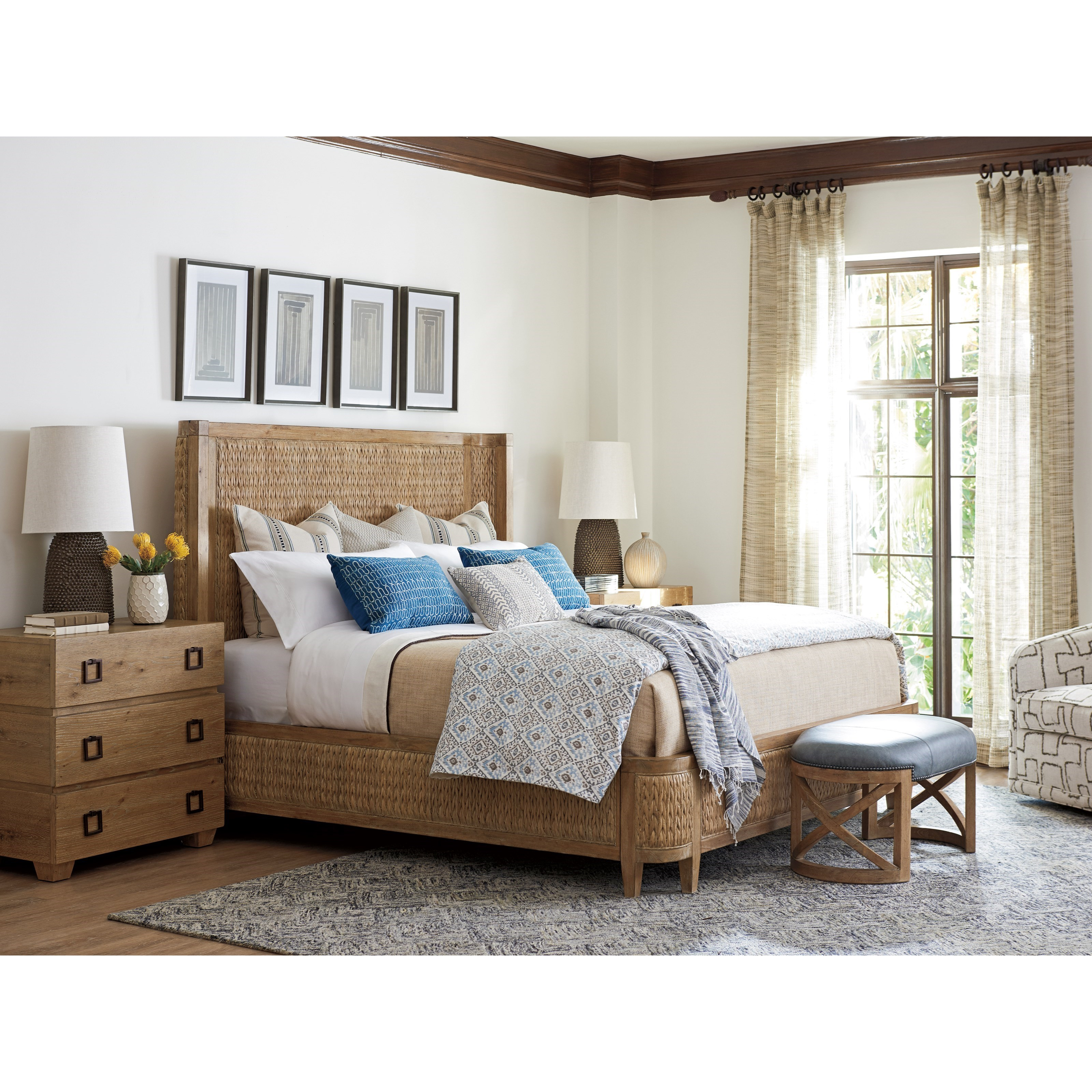 Los Altos King Bedroom Group by Tommy Bahama Home at Stuckey Furniture